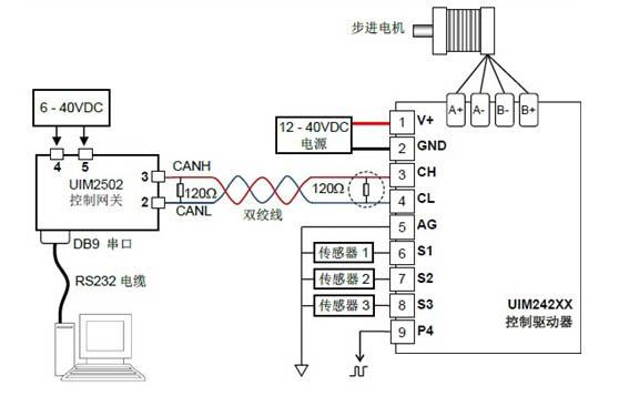 uim2502转换控制器接线图