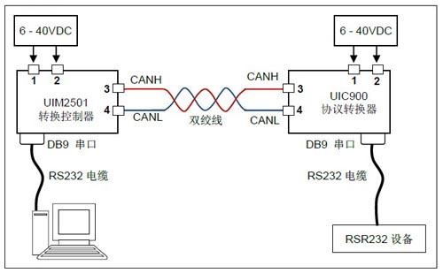uic900控制协议转换器接线图